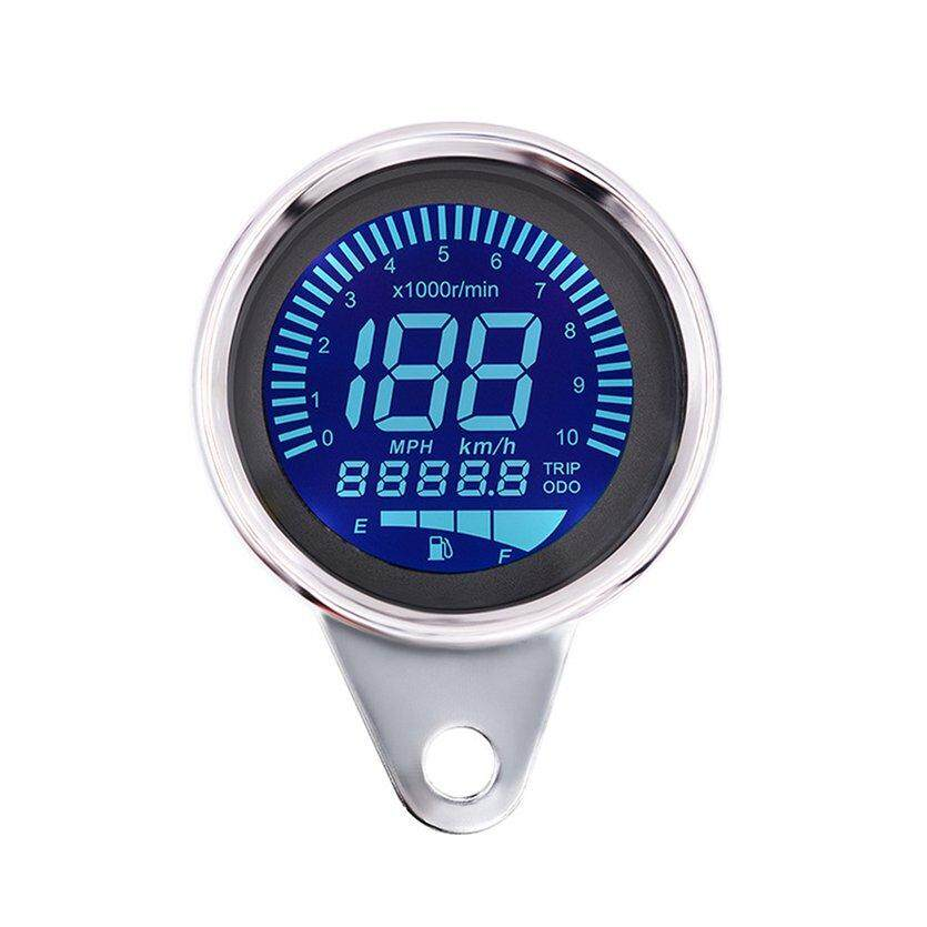 TOP Multifunction Motorcycle Meter LED Tachometer Odometer Speedometer Oil Meter