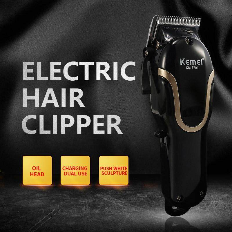Giá Cực Tốt Khi Mua Kemei Professional Hair Salon Hair Clipper điện Không Dây Mạnh Mẽ Tông đơ Cắt Tóc KM-3701