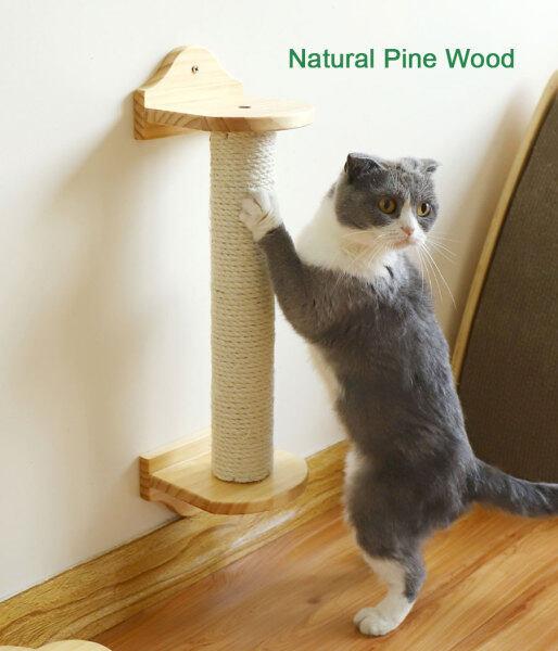 Cọc Cào Móng Cho Mèo Gắn Tường Kệ Cọc Cào Sisal Cho Mèo Đồ Chơi Bảng Cào Cho Mèo Con Thú Cưng Kitten Khung Leo
