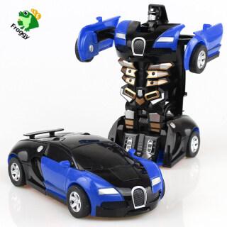 FroggyPrince Đồ Chơi Biến Hình Robot Xe Hơi Đồ Chơi Xe Hơi Xe Hơi Biến Hình Đồ Chơi Xe Tải Bền Cho Trẻ Em thumbnail