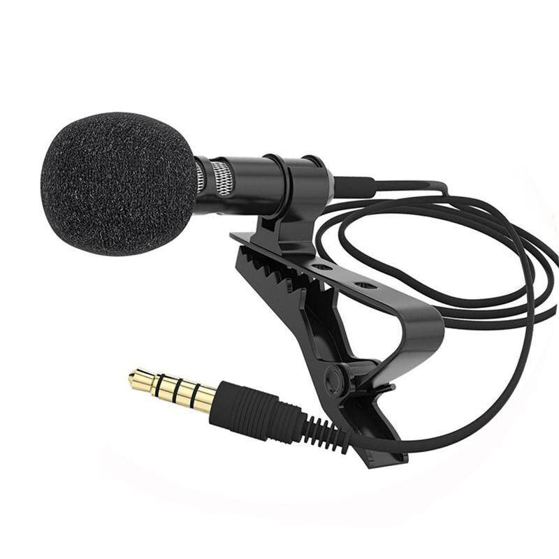 Mini Portable Clip-on Lapel Lavalier Condenser Mic Wired Microphone for iPhone iPad Android Smartphone