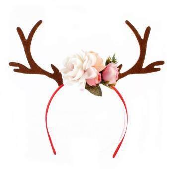 862988761f394 การส่งเสริม Kids Sequins Christmas Headwear Reindeer Antlers Ear Hairband  Christmas Flower Headband Head Hoop ซื้อที่ไหน - มีเพียง ฿99.54