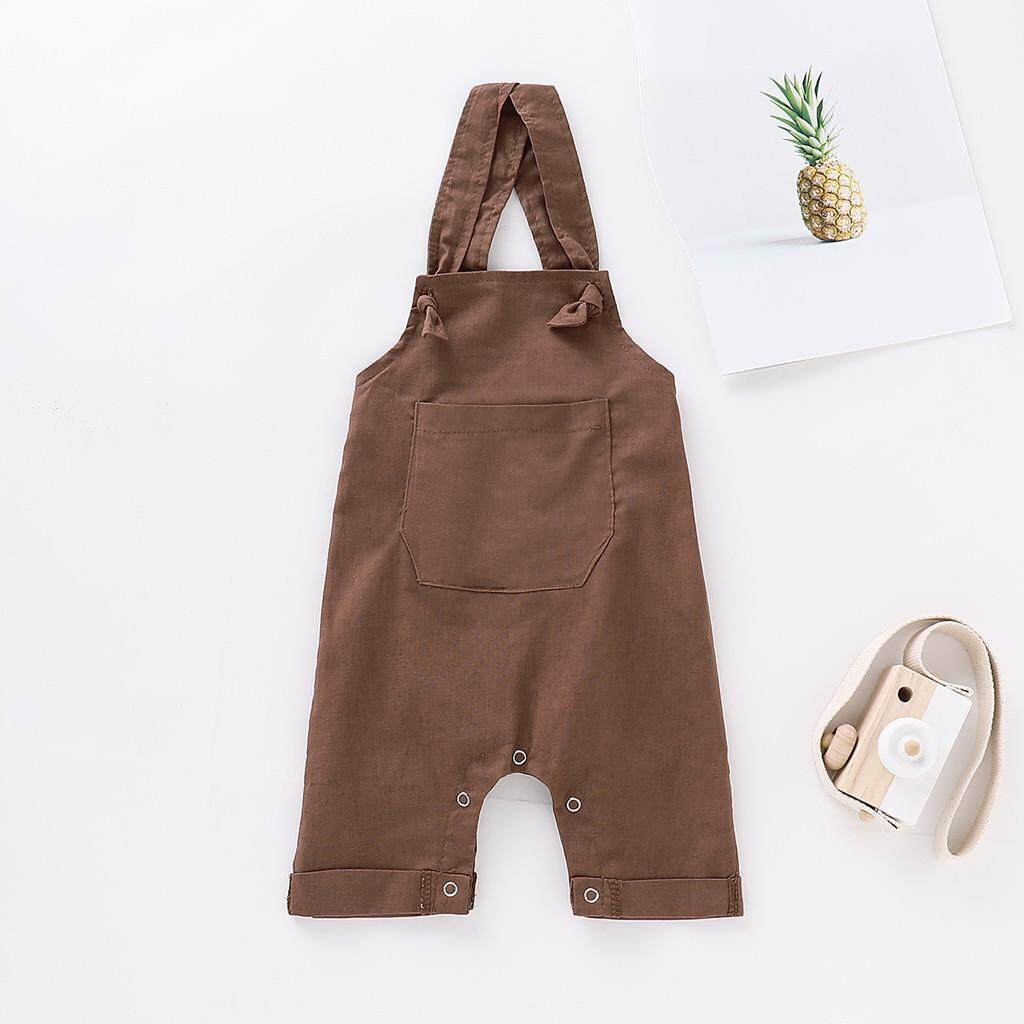 2019 M&k Toddler Kids Baby Girl Boy Striped Trousers Casual Pants Suspender Denim Jeans By Ralphshop.