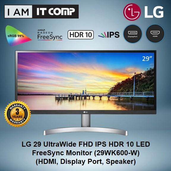 LG 29  UltraWide FHD IPS HDR 10 LED FreeSync Monitor (29WK600-W) Malaysia
