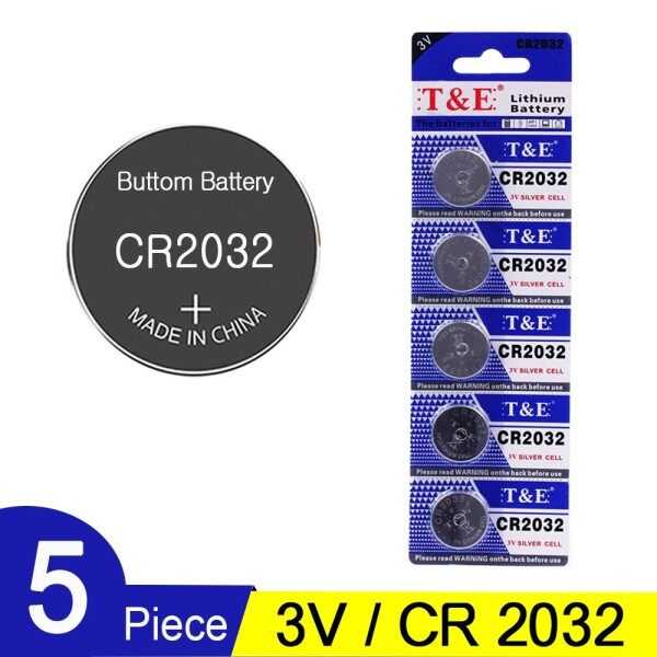 CR2032 CMOS Lithium Button Cell Battery (1 Pack 5pcs) For Watch Motherboard PC Remote Control Malaysia