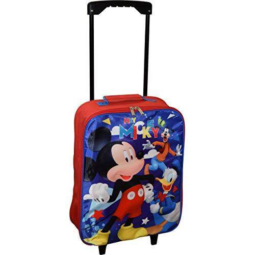 "Group Ruz Disney Junior Mickey And The Roadster Racers 15"" Collapsible Wheeled Pilot Case - Rolling Luggage"