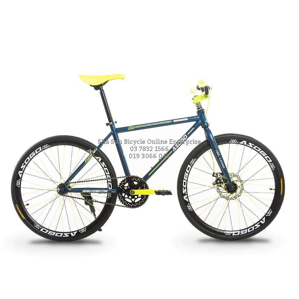 0% Sst 24er Fixie Disc Break Fd Asogo Single Speed Basikal Bicycle - Factory By Sha San Bicycle Online Enterprise (sa0337852-A).