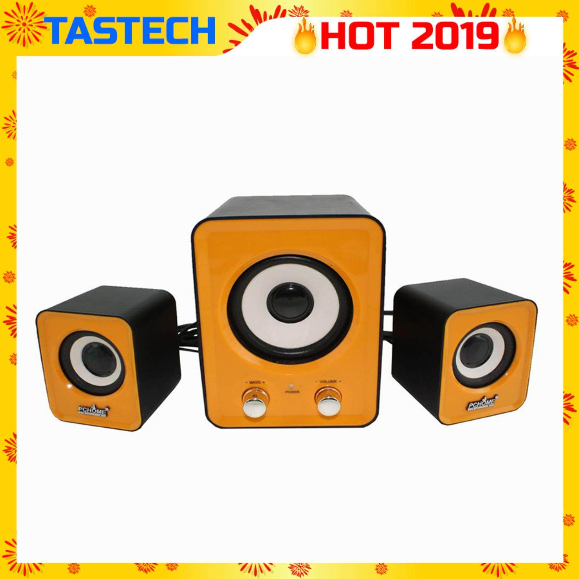Tastech BF-100 3d sound Technology 2.1 USB port Multimedia Speaker (Yellow) Malaysia