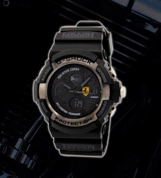 Sports Smart Collection G_SHOCK_Ferrari_Dual Display Watch For Men Awesome Looking New Design Ready Stock Malaysia