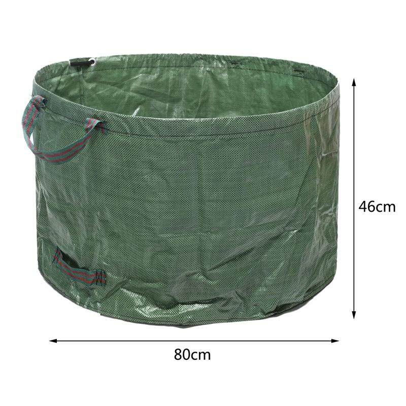 Bulk Bags Garden Waste Bags Reusable and Collapsible Lawn Leaf Container 63 Gallons