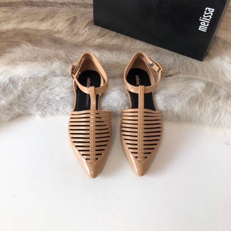 Melissa Women Shoes Summer New Flat Bottom Leisure Sandals Womens Rome Vacation Student Beach Women Jelly Melisss Sandals.