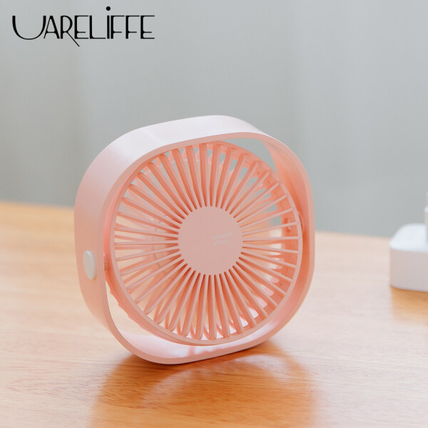 Uareliffe 312 USB Mini Desktop Natural Fan Portable 3 Speed Adjustable 360 Degree Rotating Fan Five Leaf Fan Less Noise Light Weight Portable For Office Household Traveling