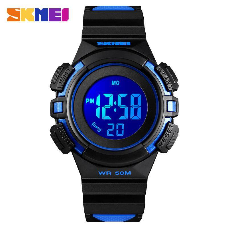 SKMEI New Fashion Kids Watch Boy Girl Children Watches Cute Alarm LED Digital Waterproof Wristwatches Jam tangan kanak 1485 Malaysia