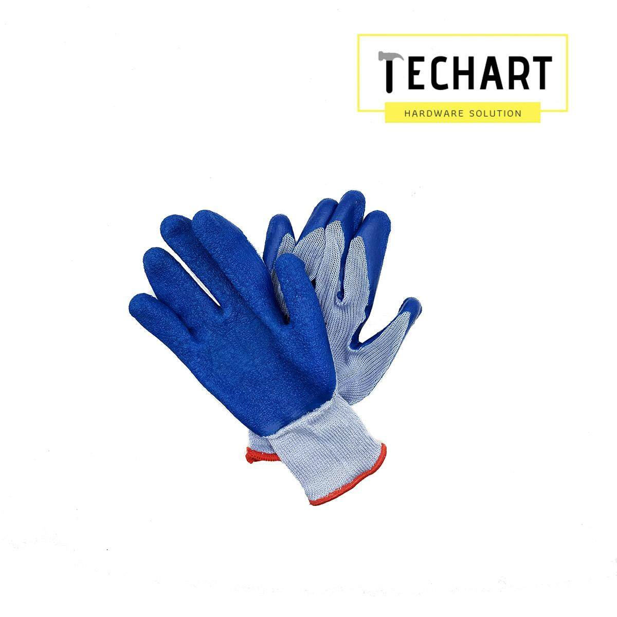 [ VALUE PACK ] 3 PAIRS High Quality Blue Anti-slip Gloves Extra Strong Grip Working Industrial Glvoes