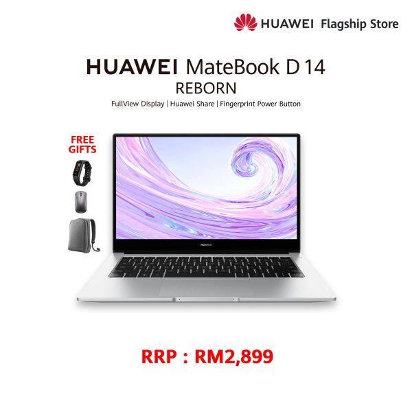HUAWEI MATEBOOK D 14 R7 FREE Band 4 + FREE Mouse + FREE Bagpack Malaysia