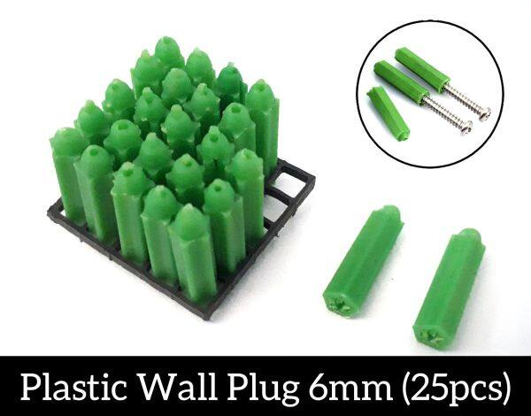 Harderned Plastic Wall Plug 6mm 25pcs Wall Plug