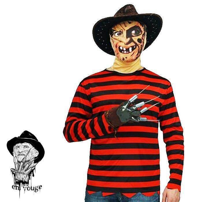 Nightmare on Elm Street Mens Miss Freddy Krueger Fancy Dress Costume Top+Blades