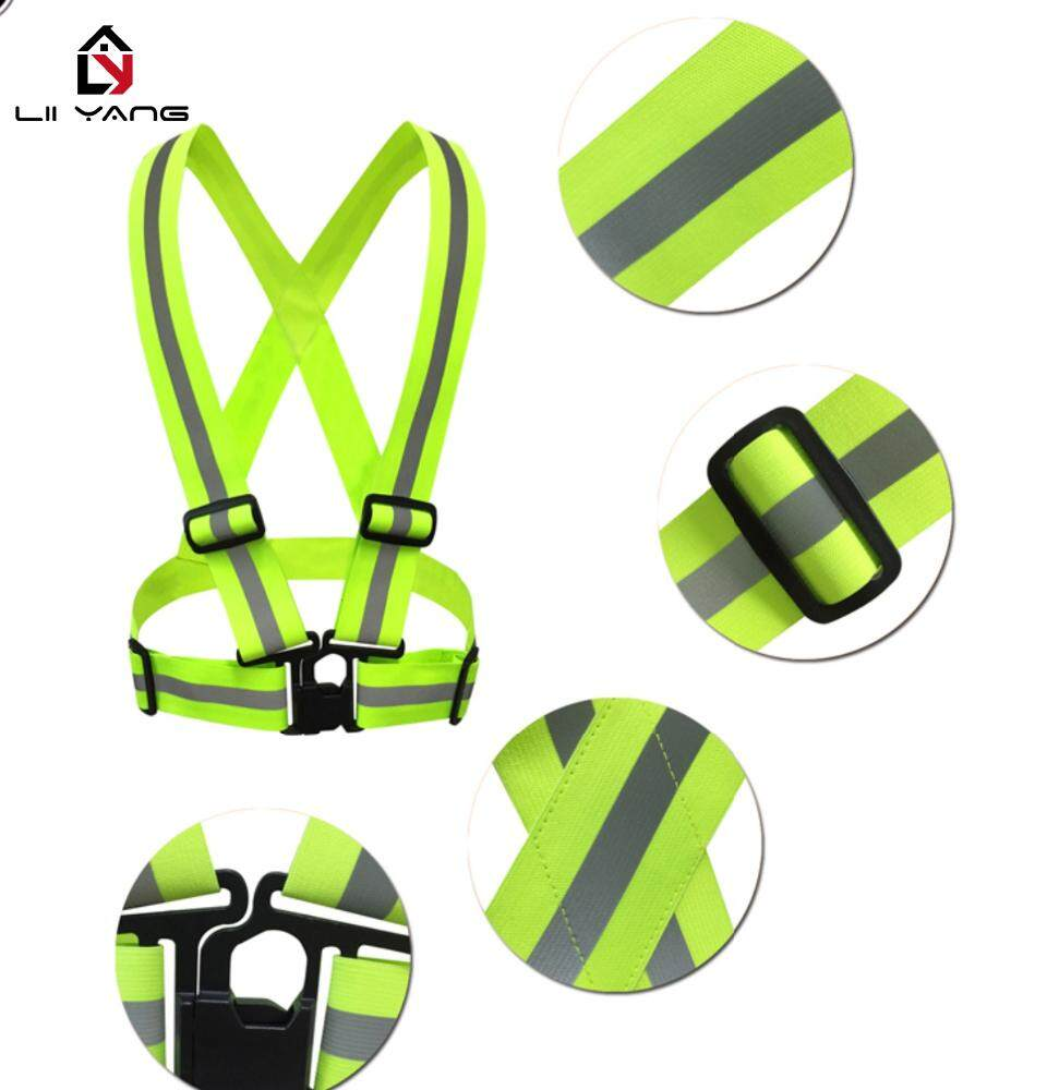 Adjustable Safety Cycling Running Visibility Reflective Vest