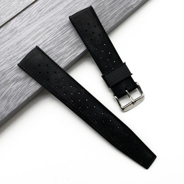 High Quality Tropic Rubber Watch Strap 20mm 22mm For Seiko SRP777J1SKX007 Silicone Watchband Mens Diving Waterproof Black Color Malaysia