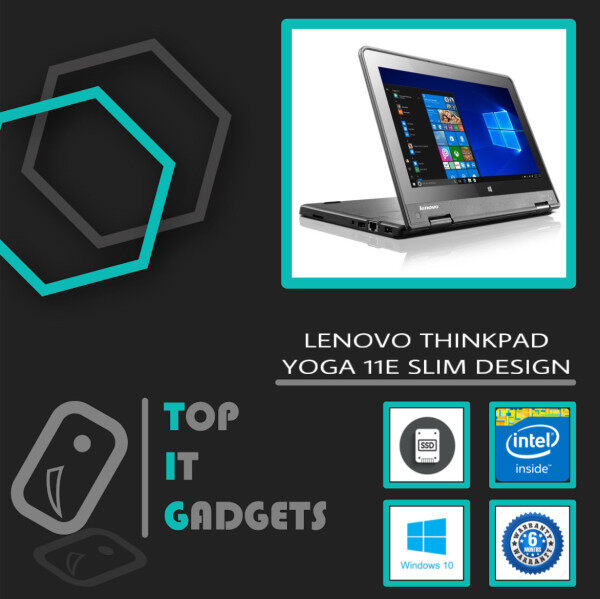 LENOVO THINKPAD YOGA 11E SLIM LAPTOP - INTEL CELERON QUAD CORE  2.3GHZ / 4GB DDR3 RAM / 128GB SSD STORAGE / WINDOW 10 PRO / 12 INCH / 6 MONTHS WARRANTY [ LAPTOP ] Malaysia