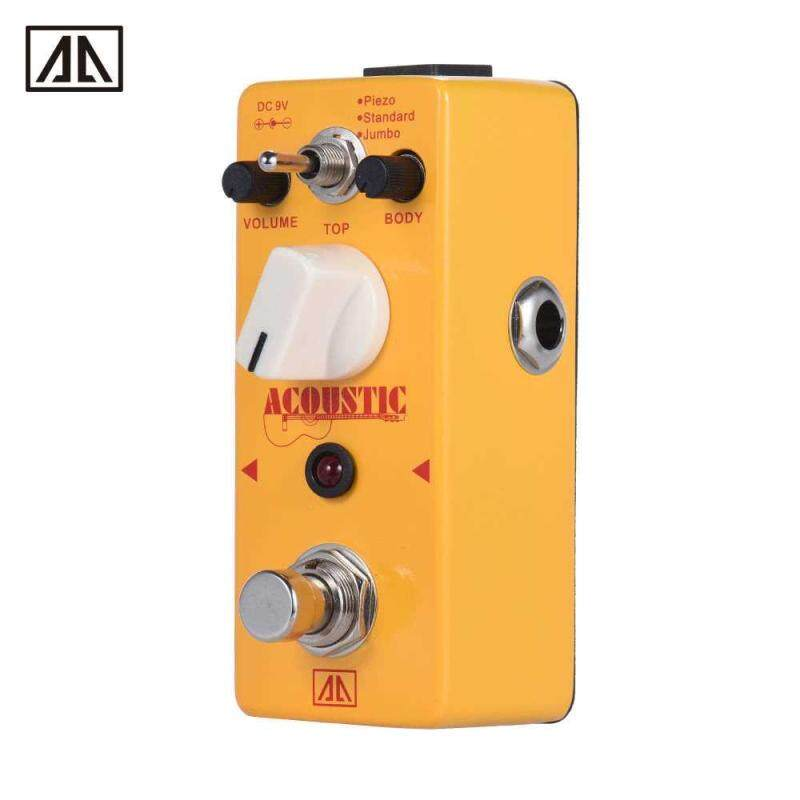 AROMA AAS-5 Acoustic Guitar Simulator Effect Pedal 2 Modes Aluminum Alloy Body True Bypass Malaysia