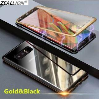 Zeallion Cho [Samsung Galaxy S8 Plus G955] Kính Cường Lực Trong Suốt Hấp Phụ Từ Tính Hai Mặt Ốp Điện Thoại Bảo Vệ Toàn Diện 360 thumbnail