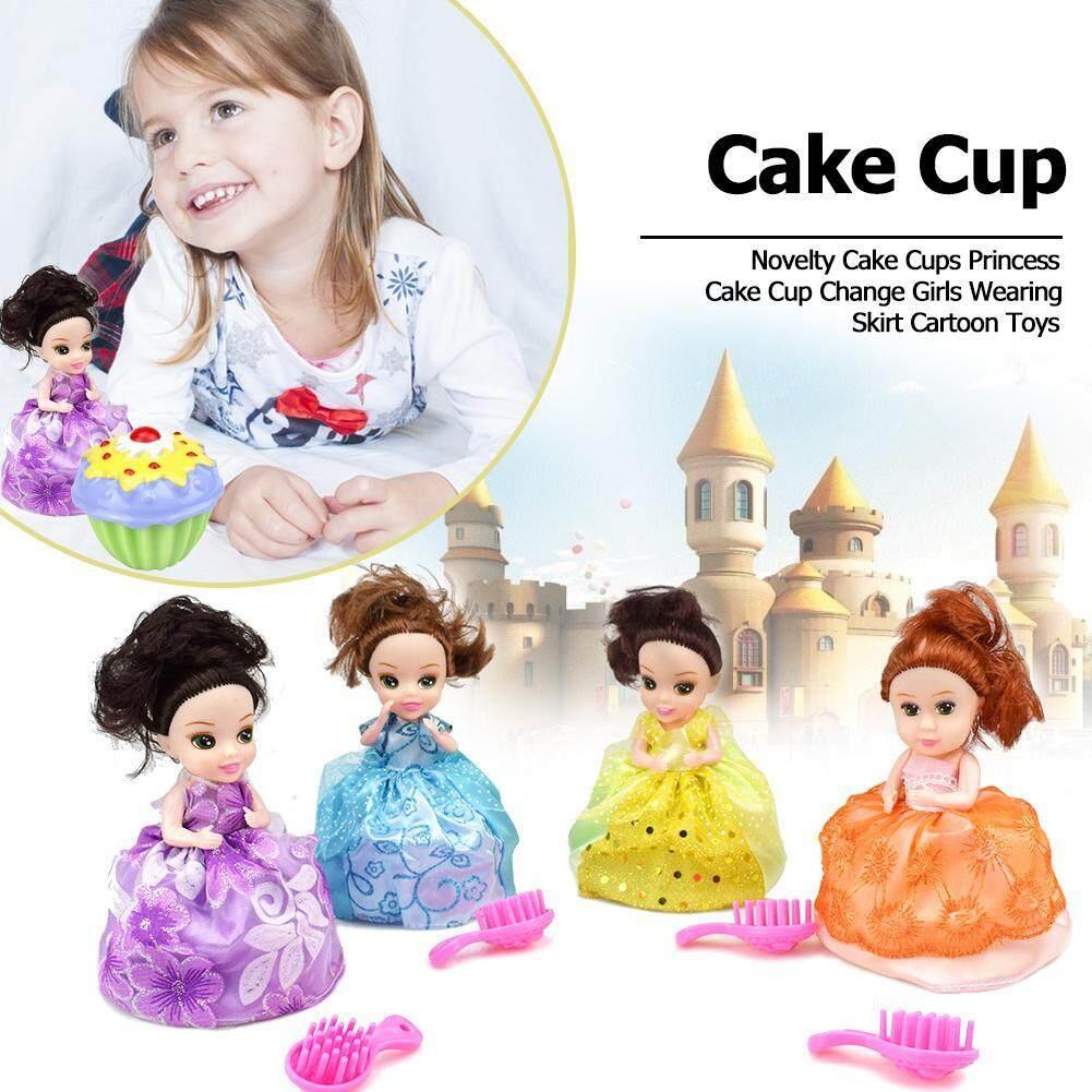 Domybestshop Novelty เค้กหอมหวนถ้วยเจ้าหญิงถ้วยใส่เค้กเปลี่ยนสาวสวมใส่กระโปรงของเล่นการ์ตูนของขวัญวันเกิดสำหรับเด็ก By Domybestshop.
