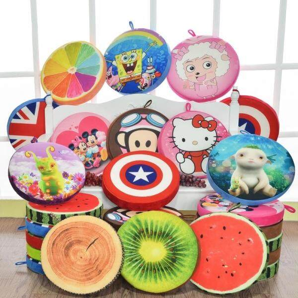 3D Fruit Cushion Floor Children Cartoon Kindergarten Thick Round Watermelon Mat Tatami Increased Chair Cushion