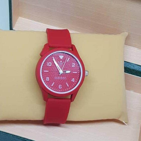 New_Addidas_Unisex Special Design New Arrival Ready Stock Free Gift Box Rubber Strip & Dial Quartz Malaysia