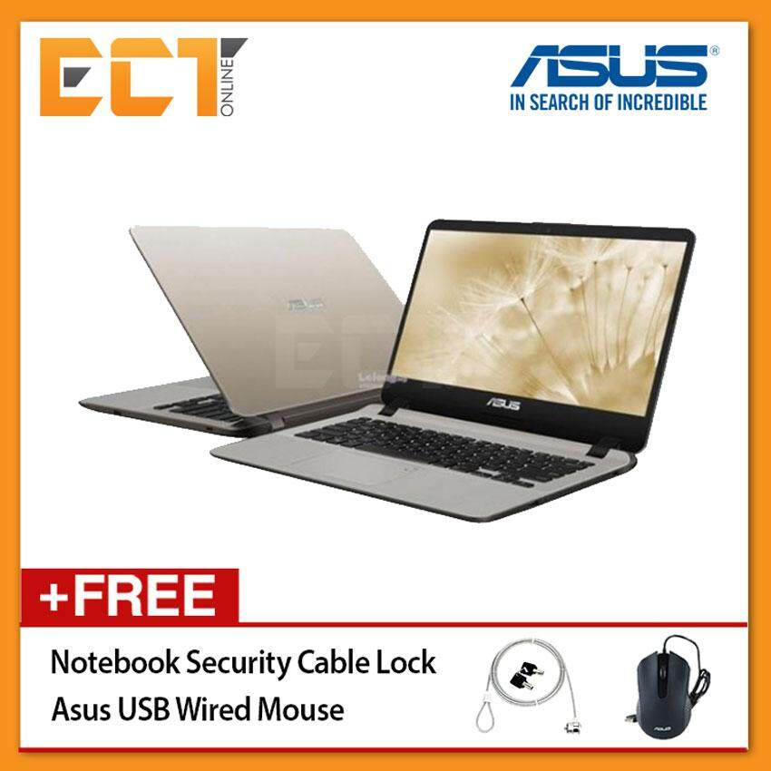 Asus VivoBook A407M-ABV037T Laptop (N4000 2.60GHz,4GB,500GB,14 HD,W10) - Gold Malaysia