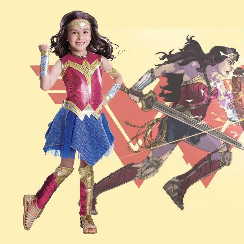 Wonder Woman Halloween Costume Kids.Wonder Women Costumes Kids Cosplay Costume Justice Superhero Halloween Costume For Girls Sexy Dress Diana Cosplay 5 Pieces Set