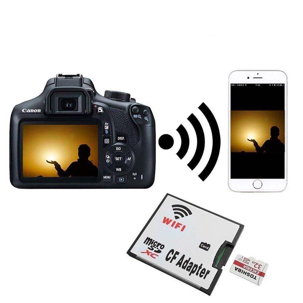 Giá Hgkk-Wifi Thẻ Nhớ TF Micro SD Sang CF Compact Flash Thẻ Cho Máy Ảnh Kỹ Thuật Số