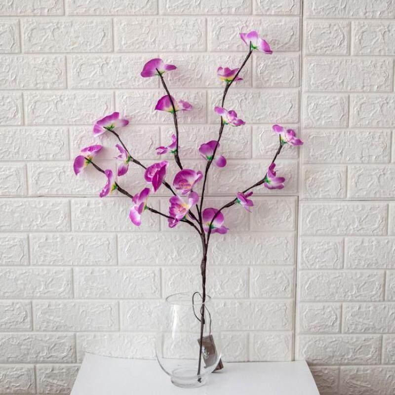 Viugreum 20 LED Mô Phỏng Phalaenopsis Chi Nhánh Ánh Sáng Tiệc Giáng Sinh Vườn Đèn Trang Trí