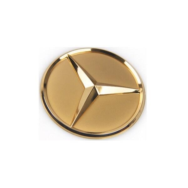 Trung Tâm Tay Lái 57Mm Logo Túi Khí Biểu Tượng Nhãn Dán Cho Mercedes Benz New C E S Class Sửa Đổi Huy Hiệu Trang Trí Vàng