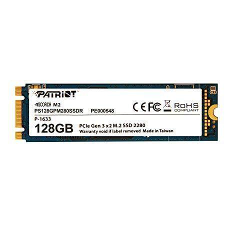 Patriot SCORCH 128GB PCIe NVMe 3D NAND Solid State Drive SSD ( Included installation)