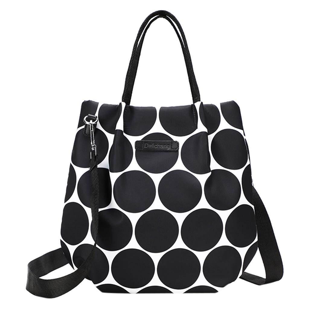 ◇ Cod Fashion Trend Casual Print Handbag Waterproof Oxford Nylon Cloth Bag
