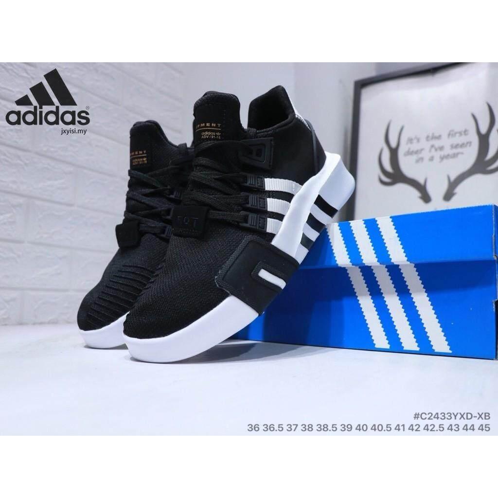 d3e71741bc5f Adidas EQT BASK ADV classic black Womens Mens running sports walking gym  shoes