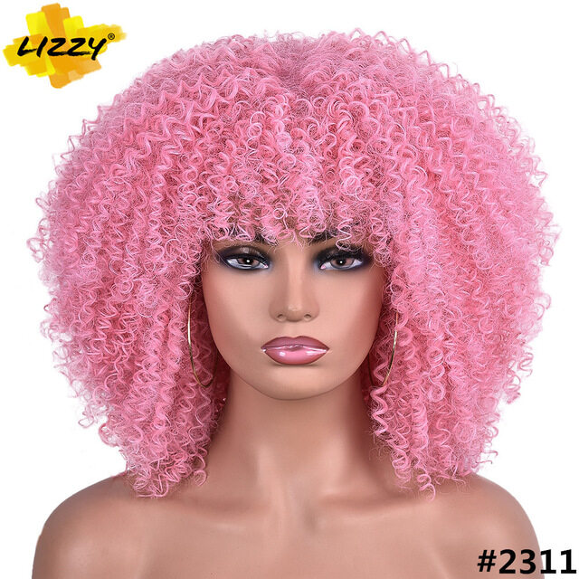 Ready Stock Selling Top300 Short Hair Afro Kinky Curly Wigs With Bangs For Black Women African Synthetic Omber Glueless Cosplay Wigs High Temperature Lizzy Lazada Ph