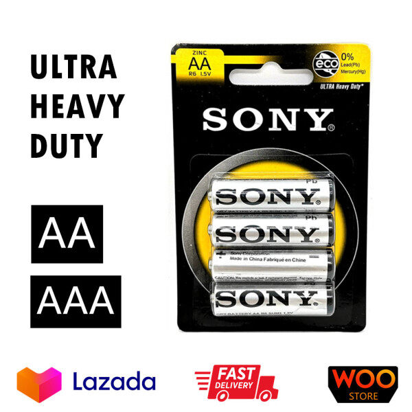 Sony ULTRA Heavy Duty AA/ AAA Battery (4 pcs pack) Carbon Zinc Batteries READY STOCK/ FAST DELIVERY BATERI