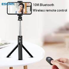 ESCAM Giá Ba Chân Gậy Chụp Ảnh Tự Sướng Bluetooth Có Thể Mở Rộng Cầm Tay P30 Dành Cho iPhone Samsung Huawei