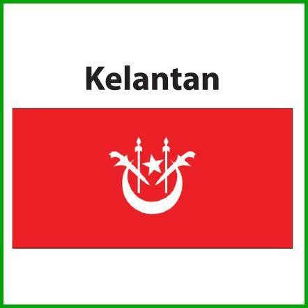 Kelantan Flag 3x6ft, Bendera Kelantan 3x6ft, Polyester