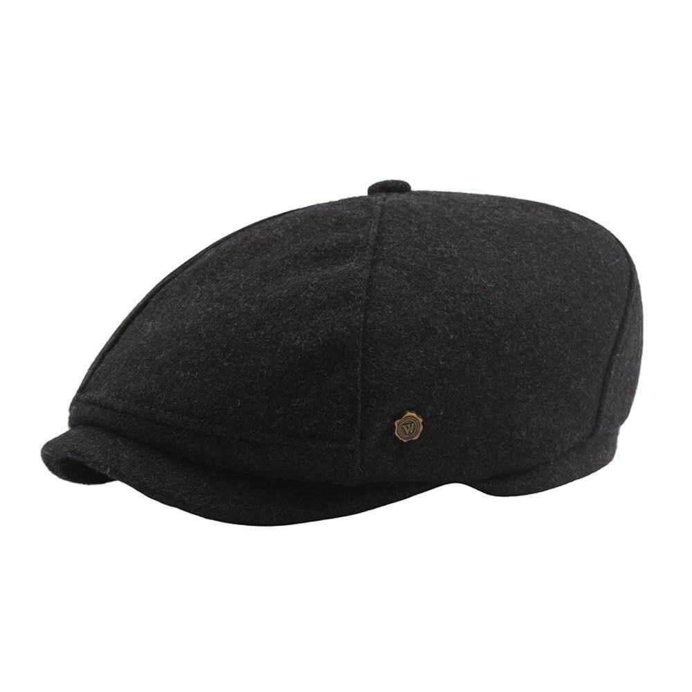 Men Solid Casual Cap Flat Beret Octagonal Cap Outdoor Beret Caps
