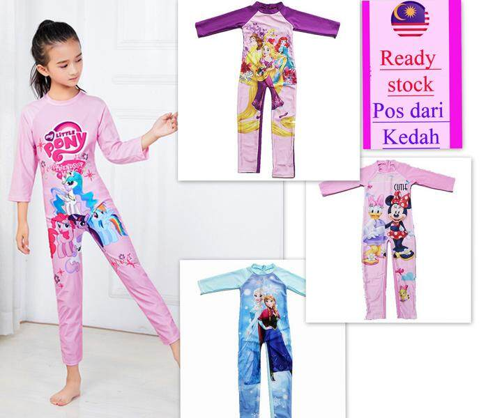 240847b762 Girl child kid 1 piece swimming suit sweet colour cartoon swimwear frozen  Cinderella design