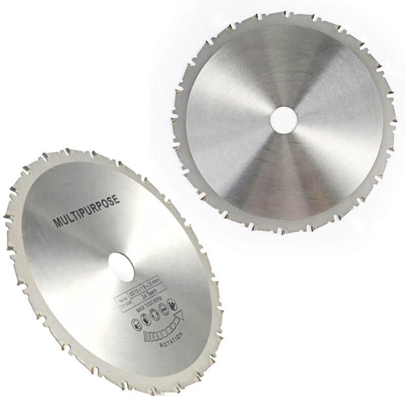 210mm 24 T 25.4mm DIY Hình Tròn Lưỡi Cưa Đĩa Cắt Gỗ Kim Loại Nhựa