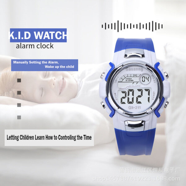 Jam Tangan 7 colours Light Digital Sport Waterproof Watch Kids Children Kanak-kanak Budak Kalis air Malaysia