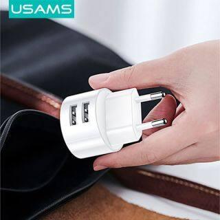 USAMS Bộ Sạc USB Kép Bộ Sạc Du Lịch Cho iPhone Samsung 2.1A 2 Cổng Bộ Sạc Tường Phích Cắm EU UK US Cho Bộ Sạc Điện Thoại Di Động IOS Android thumbnail