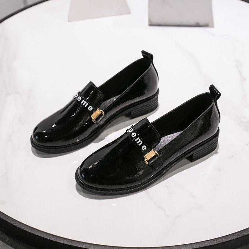 Giày Mary Jane Aurora Cho Nữ, Giày Lười Thường Ngày Đi Học, Chống Trượt, Màu Đen, Giày Da Nhỏ, Giày Đế Bệt Thời Trang giá rẻ