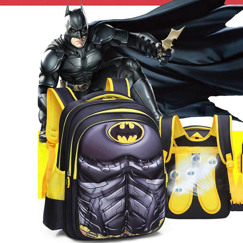 New Fashion 3d Kids School Bag Spiderman Backpack Captain America Batman For Boys And Girls Girls' Accessories