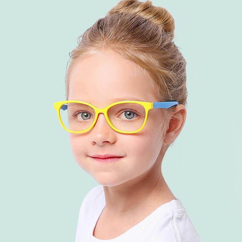 Giá bán Mắt Kính Bé Gái Bé Trai Chống Ánh Sáng Xanh Chống Tia Bức Xạ Ống Kính UV 400 Bảo Vệ Mắt Trẻ Em Kid Khung Kính Kính Trong Suốt ống kính