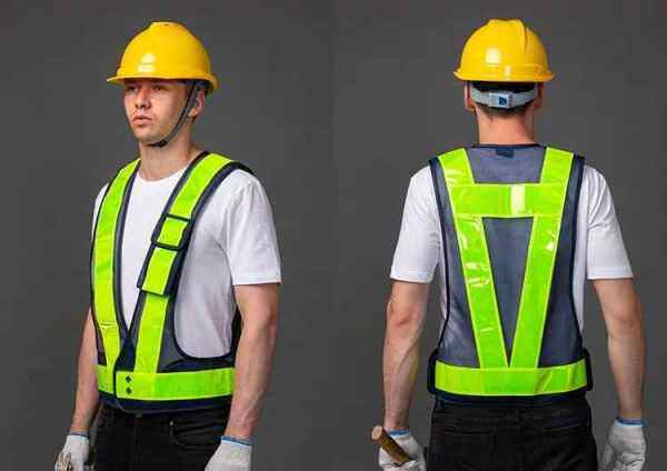Safety Vest - Netting 108, High Quality, Size Adjustable , Logo Printing available.